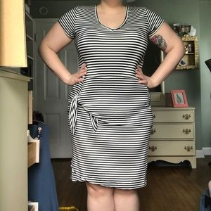 Anthropologie stripped dress